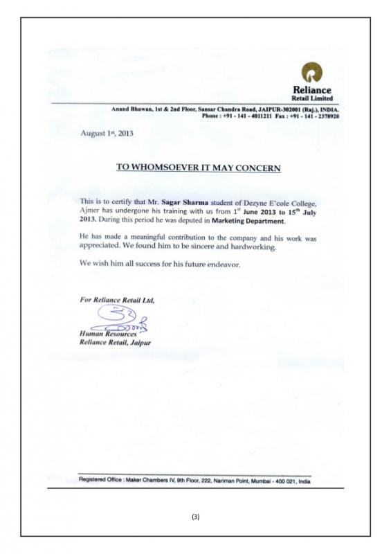 sample of business letterhead