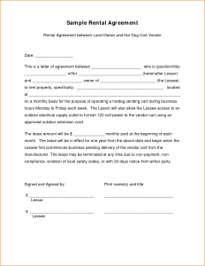 sample of business letterhead sample lease agreement