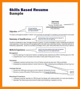 sample of business letterhead skills based resume samples