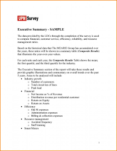 sample of bussiness letters executive summary real life examples