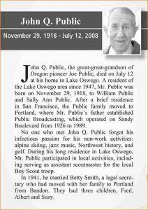 sample of obituary obituary examples obit example
