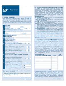 sample of power of attorney cbp form b customs declaration l