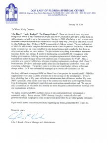 sample of recommendation letter our lady of florida