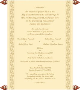 sample of wedding programme dulcie s