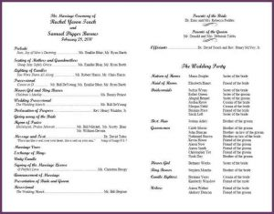 sample of wedding programs examples of wedding programs dacfecdafafebec
