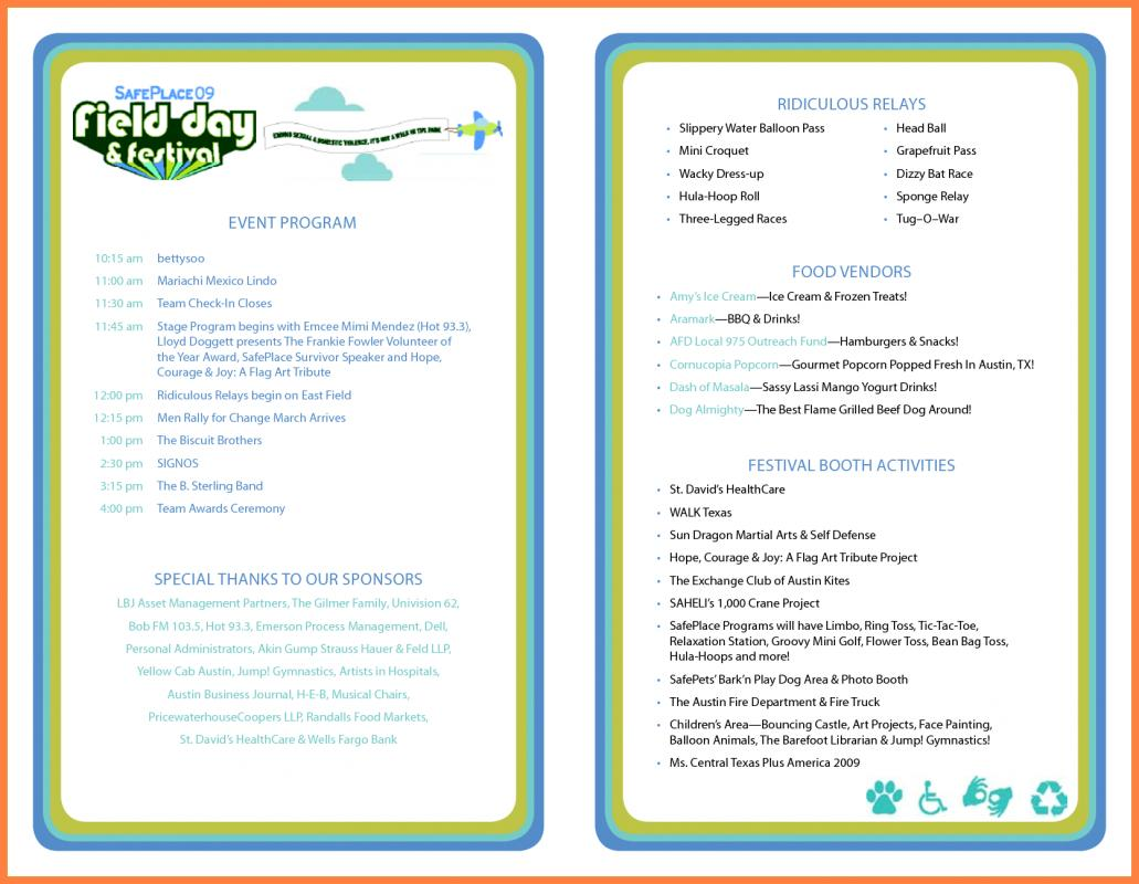 sample of wedding programs