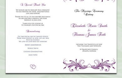 sample of wedding programs il xn ifq