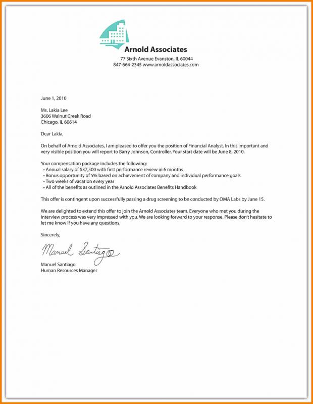 employment offer letter template sample offer letter template business 21501