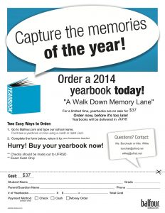 sample order form yearbook flyer