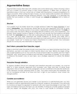 sample persuasive essay sample argumentative essay example