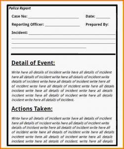 sample police report police report example police report template pdf