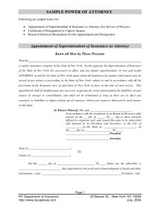 sample power of attorney captive insurance company sample power of attorney