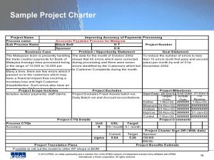 sample project charter sigma