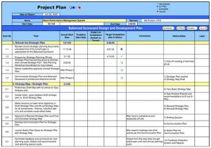 Project Plan Templates Word