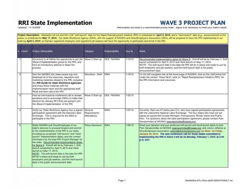 example of a project plan template - sample project plan template template business