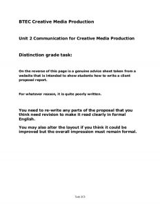sample proposal letter unit d distinction level sample client advertising proposal