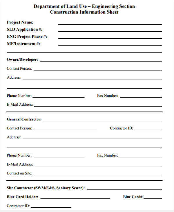 Sample Registration Forms  Template Business