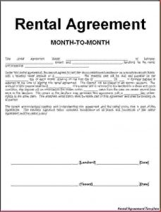 sample rental agreement lease contract sample