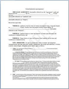 sample residential lease agreement florida residential lease agreement