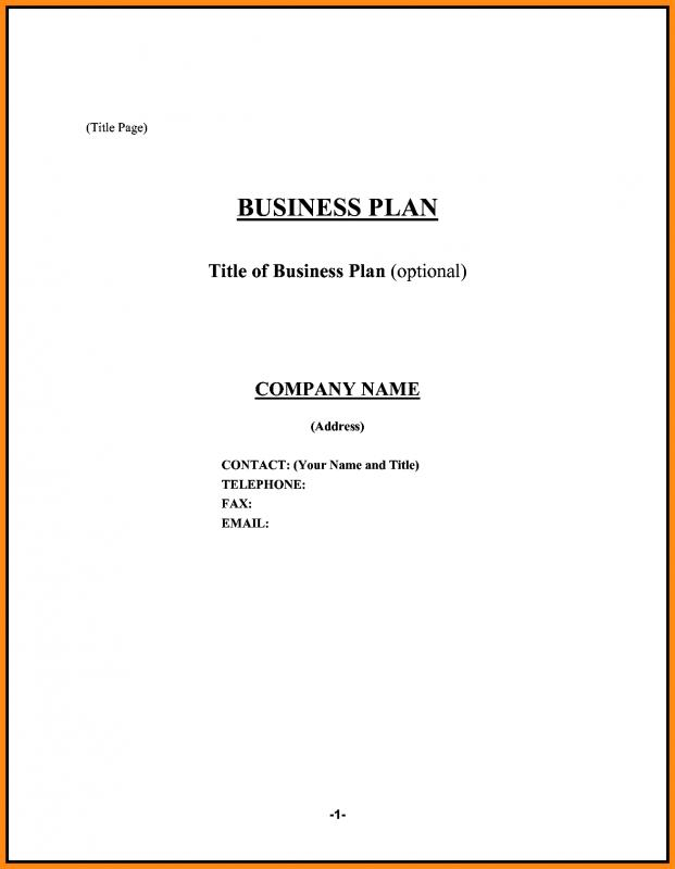 Sample Restaurant Business Plan  Template Business