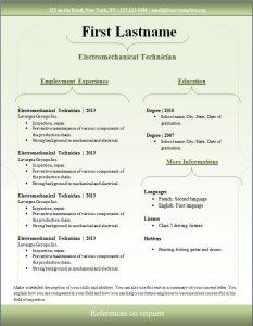 sample resume download free cv template