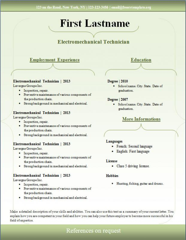 sample resume download