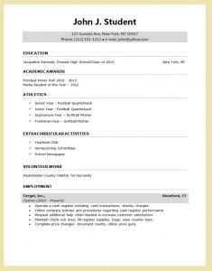 sample resume for college application sample resume for college application
