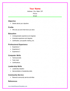 sample resume for high school student job resume examples for highschool students resume templates for