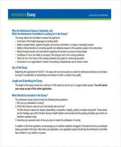 sample scholarship essays nursing college admission essay example