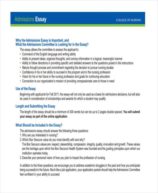 Sample Scholarship Essays | Template Business