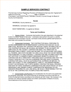 sample service agreement sample service contract