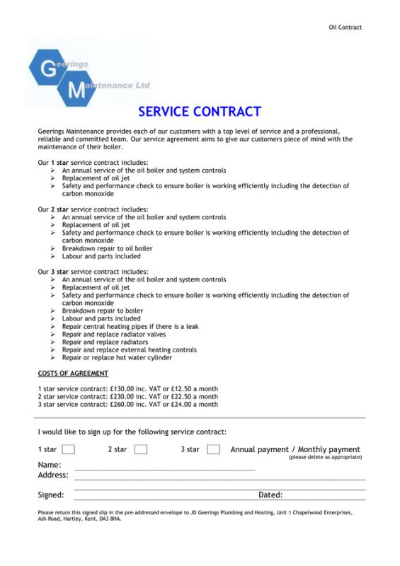 sample service agreement