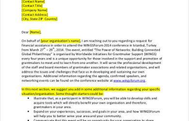 sample sponsorship letter for donations hotel sponsorship letter