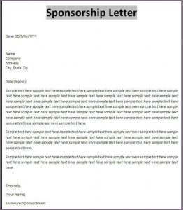 sample sponsorship letter template business