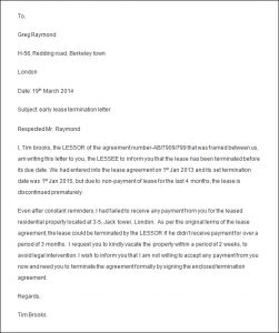 sample termination letter for poor performance termination letter