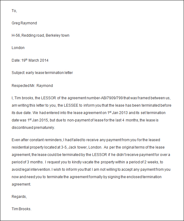Sample Termination Letter For Poor Performance  Template Business