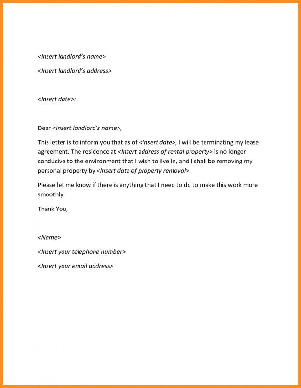 Sample Termination Letter Without Cause Template Business