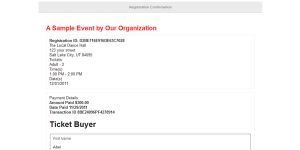sample thank you email event registration confirmation emails