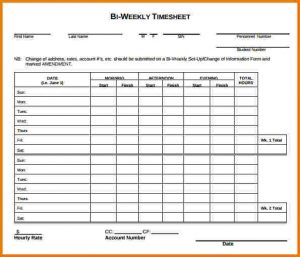 sample time sheet weekly timesheet template bi weekly timesheet template