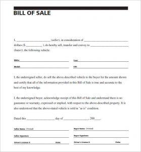 sample vehicle bill of sale carscom vehivle bill of sale of car