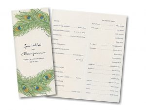 sample wedding program peacock charm wedding program alt