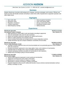 samples executive resumes best warehouse associate resume example livecareer