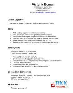 samples functional resumes resume telephone operator bkkresume
