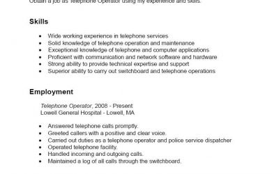 samples functional resumes resume telephone operator bkkresume