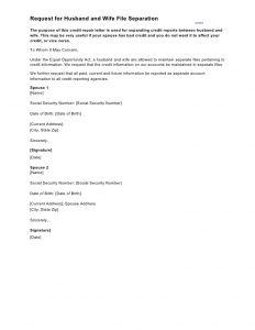 samples hardship letter sample letter request for husband and wife file separation