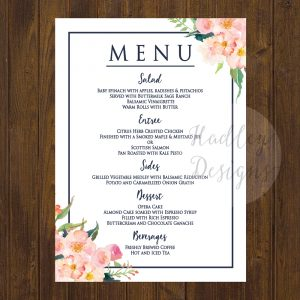 samples of wedding programs *es menu