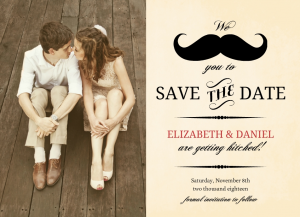 save the date bookmarks mustache