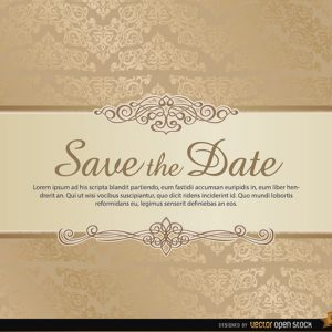save the date template free download damasksavethedatevectortemplate