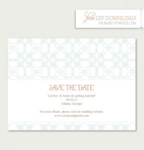 save the date template free download vintage save the date template