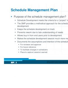 schedule management plan design amp development of a schedule management plan presentation
